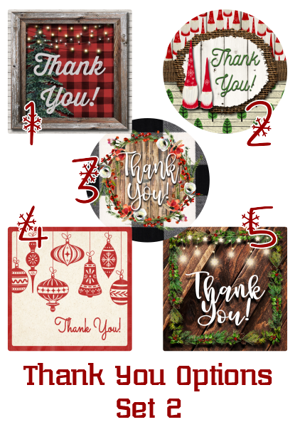 Holiday Thank You Stickers - Set 2