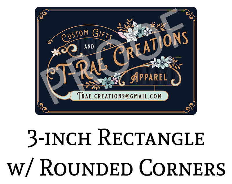 T-Rae Creations 3-in Logo Decals