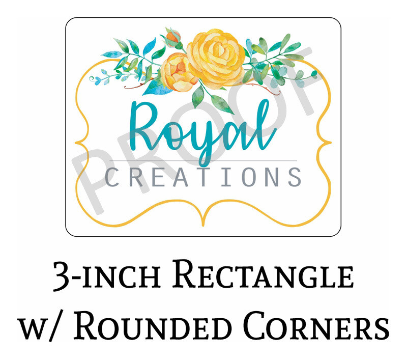 Royal Creations 3-in Logo Decals