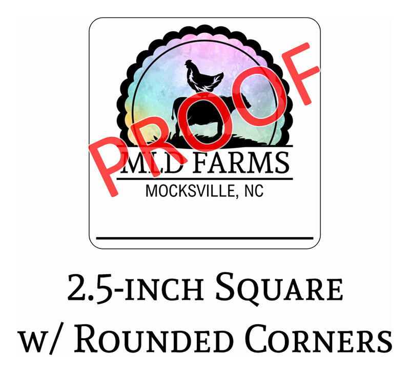 MLD Farms 2.5-in Decals