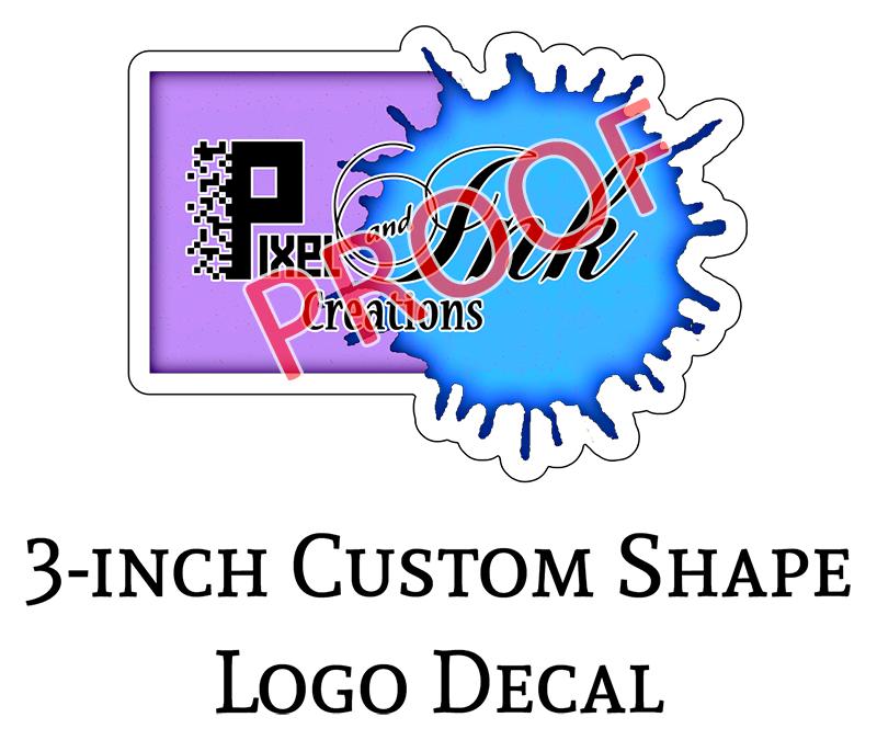 Pixel Ink Creations 3-in Logo Decals