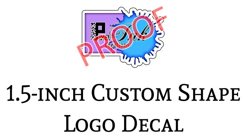 Pixel Ink Creations 1.5-in Logo Decals