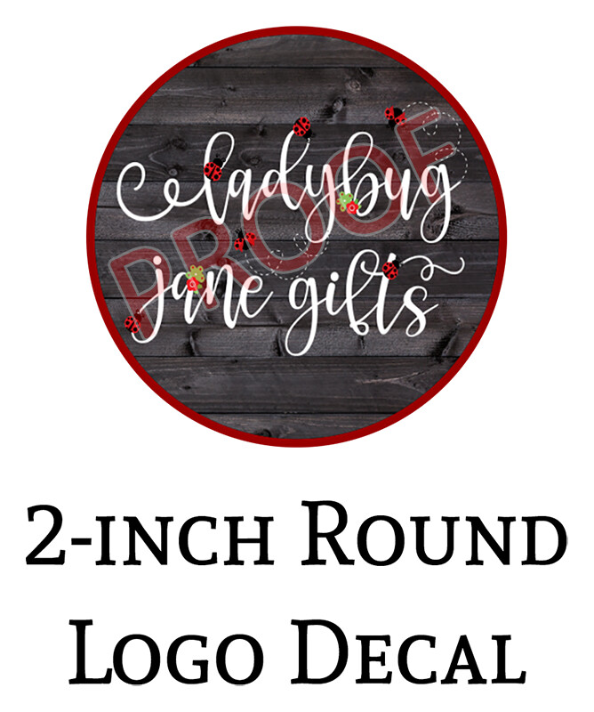 Ladybug Jane Gifts 2-in Logo Decals