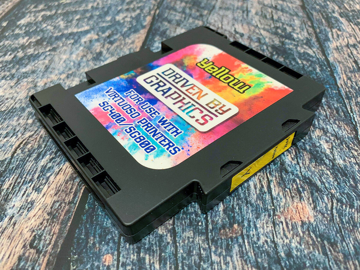 YELLOW sublimation cartridge for use in Sawgrass SG400 & SG800 printers