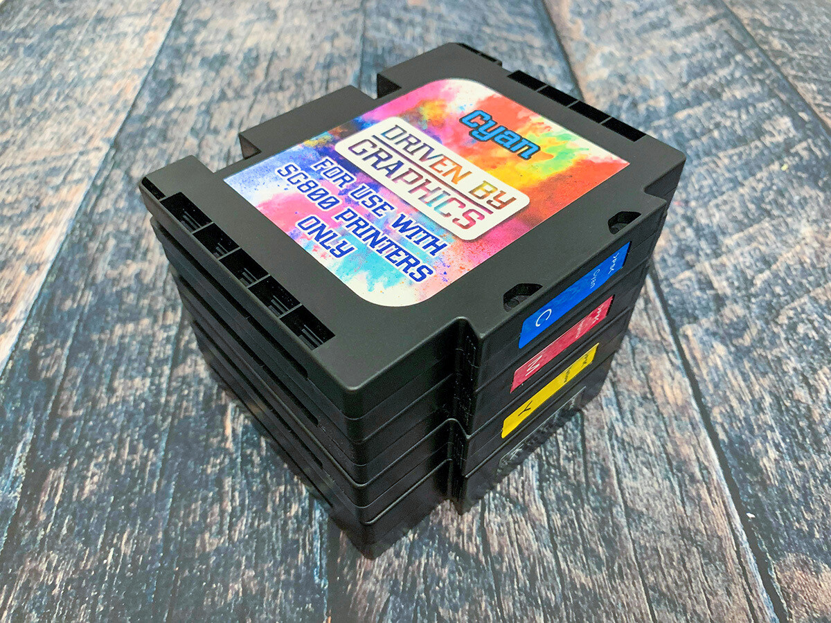 4-Pack EXTENDED sublimation cartridges for use in Sawgrass SG800 printers