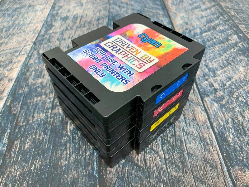 4-Pack sublimation cartridges for use in Sawgrass SG400 & SG800 printers