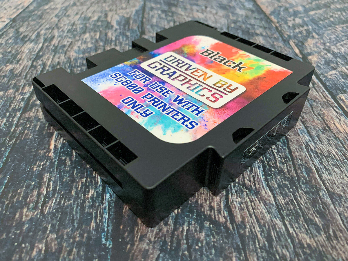 BLACK EXTENDED sublimation cartridge for use in Sawgrass SG800 printers