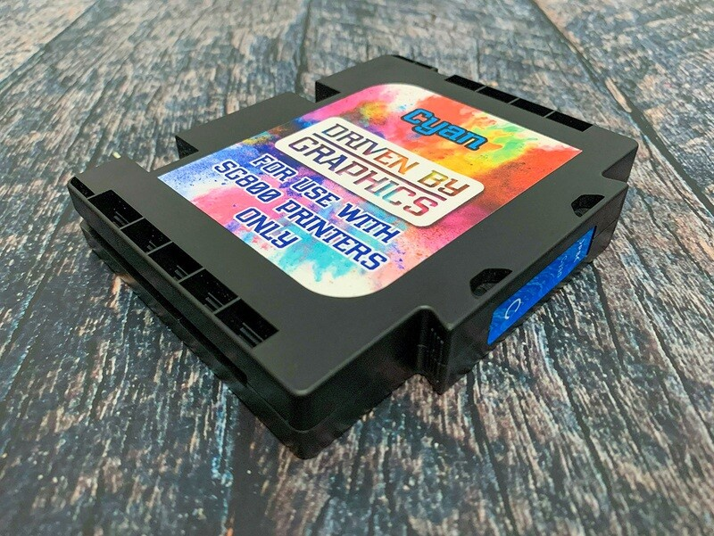 CYAN EXTENDED sublimation cartridge for use in Sawgrass SG800 printers