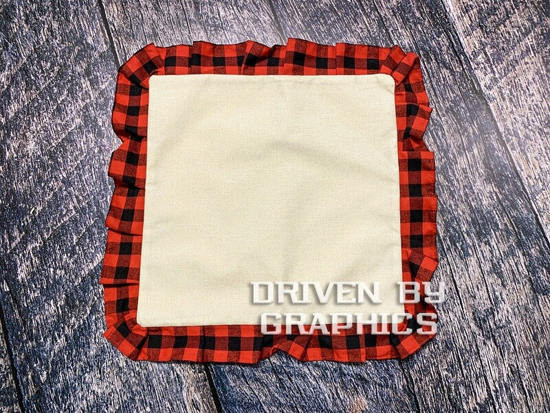 Red & Black Buffalo Plaid Pillow Cover