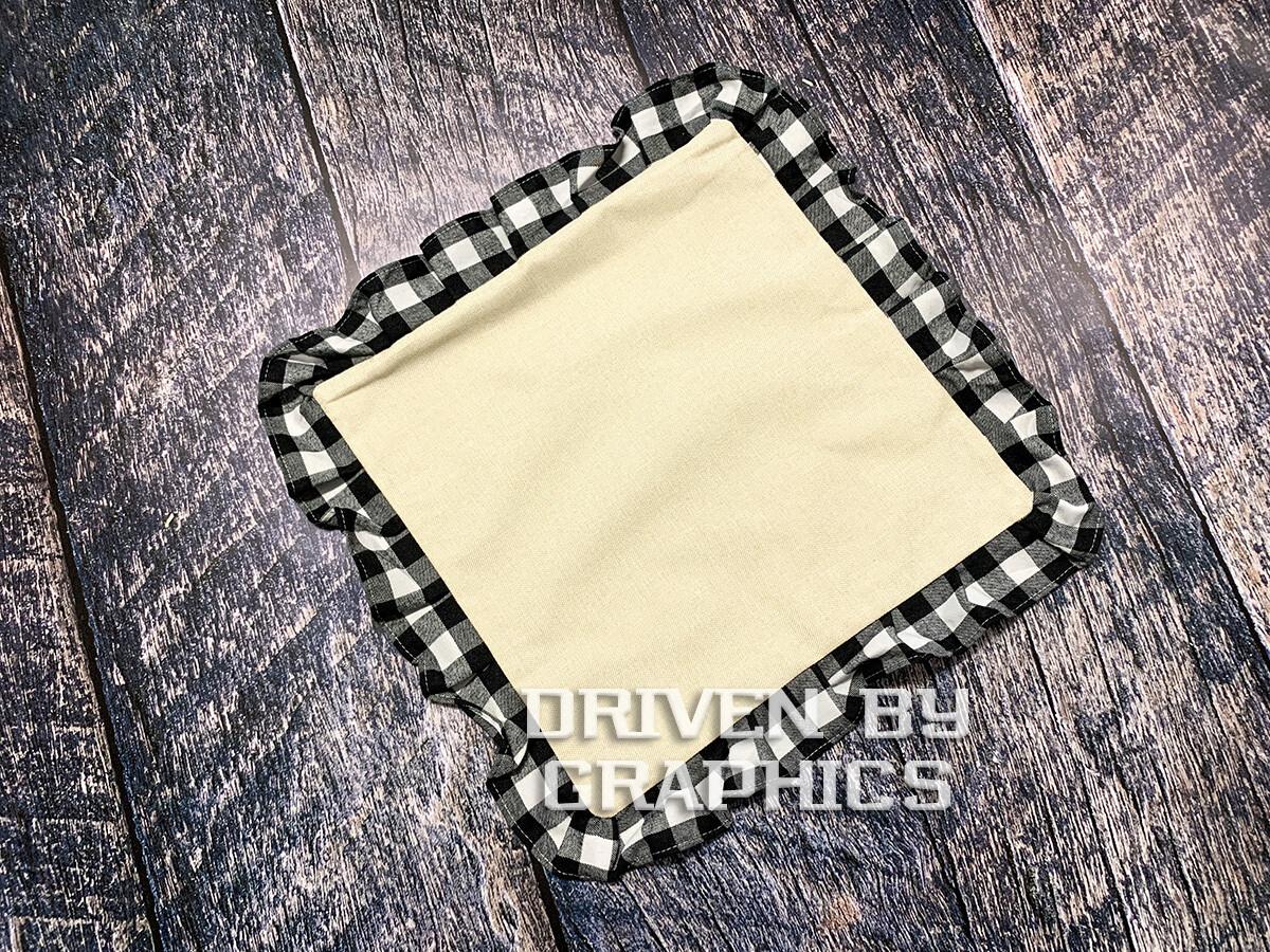 Black & White Buffalo Plaid Pillow Cover