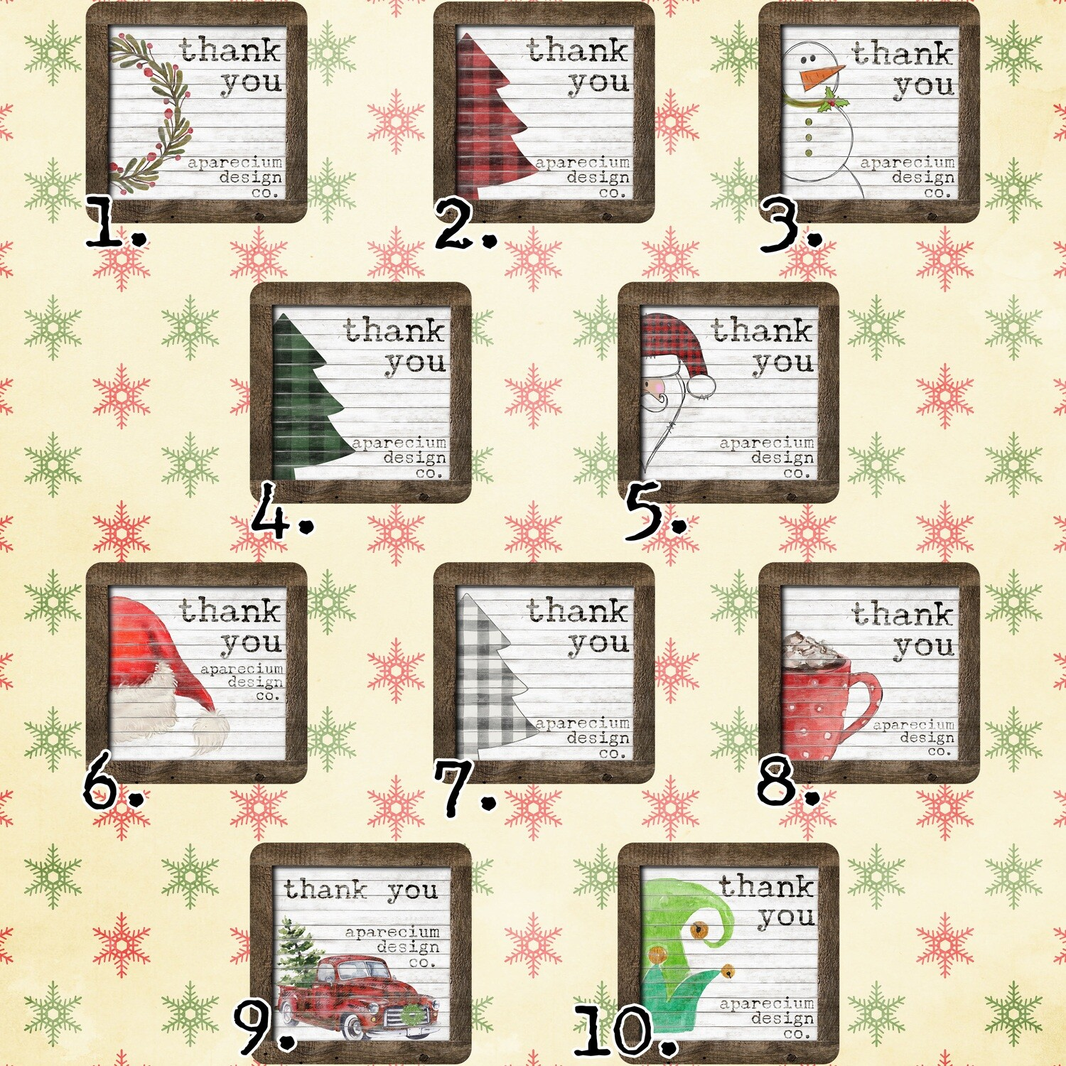 Farmhouse Holiday Thank You Stickers