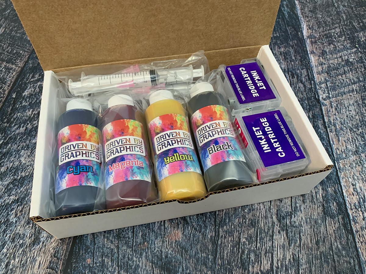 Epson Sublimation Ink Kit w/ 254XL Cartridges & Syringe Kit