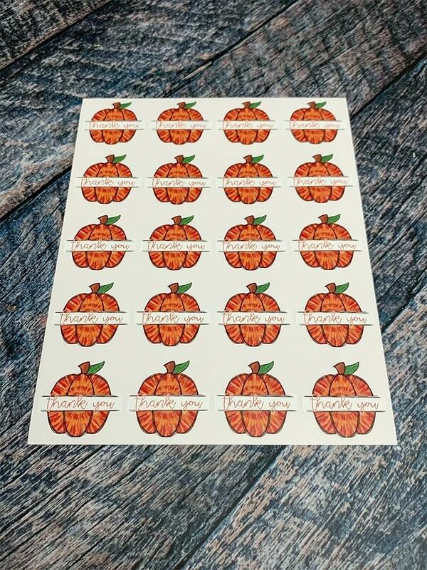 Pumpkin Thank You Stickers