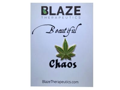 Beautiful Chaos Cannabis Pin