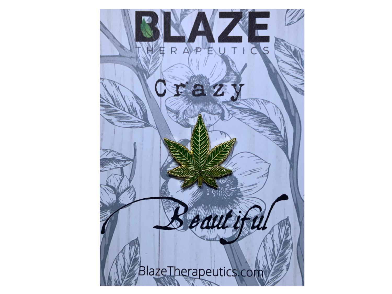 Crazy Beautiful Cannabis Pin