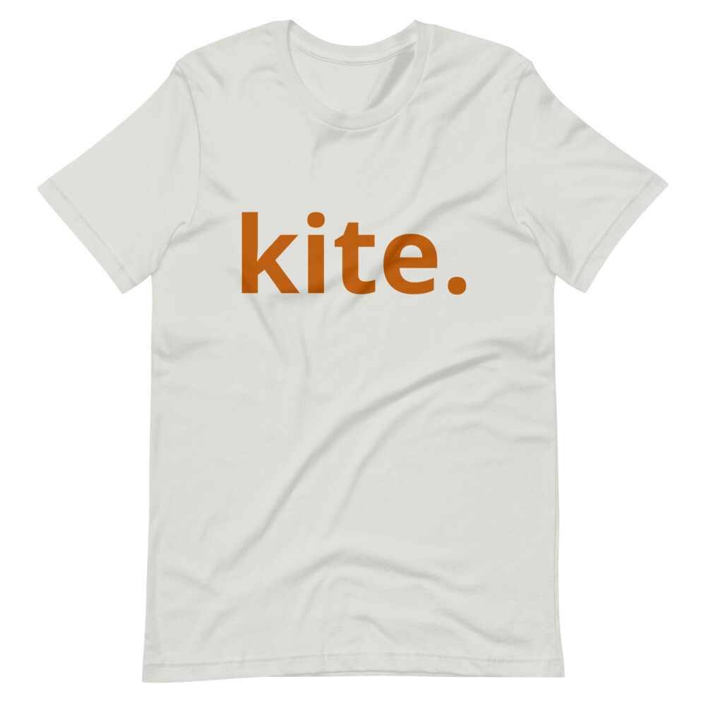 Short-Sleeve Unisex T-Shirt ' Kite' with Orange Lettering
