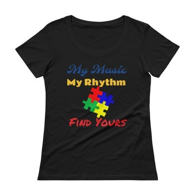 My Music, My Rhythm Ladies' Scoopneck T-Shirt