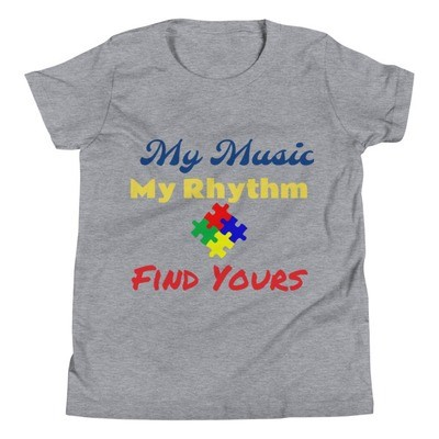 """My Music, My Rhythm"" Youth Short Sleeve T-Shirt"