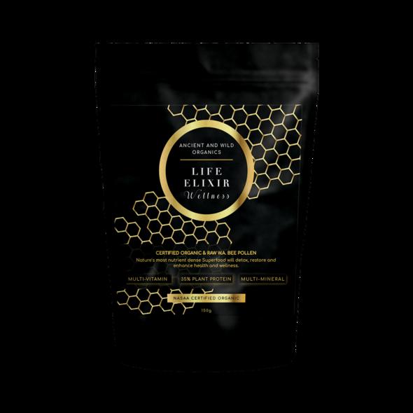 Certified Raw Organic WA Bee Pollen 150g