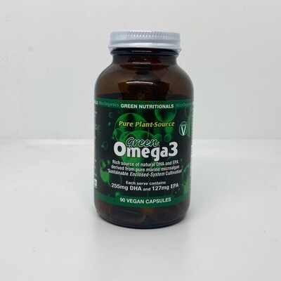 Green Nutritionals Pure Plant-Source GreenOMEGA 3 - 90 Capsules
