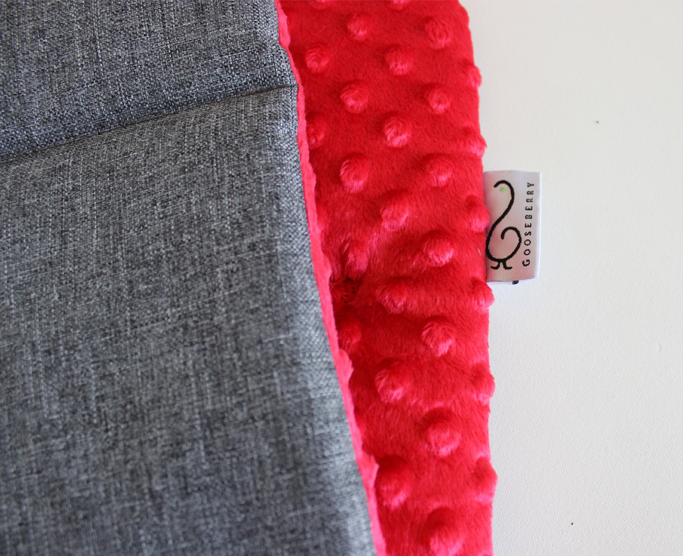 Pram Liner - Minky Red