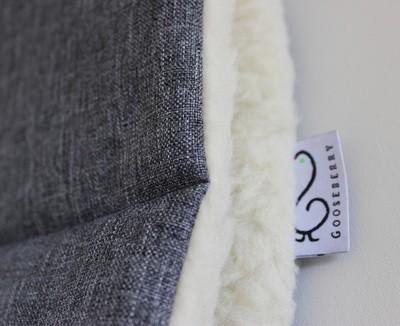 Wool Pram Liner Grey Melange