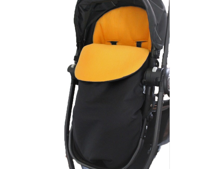 Classic Footmuff Pram Liner - Fleece Yellow