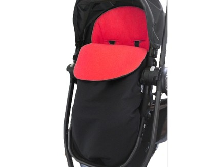 Classic Footmuff Pram Liner - Fleece Red