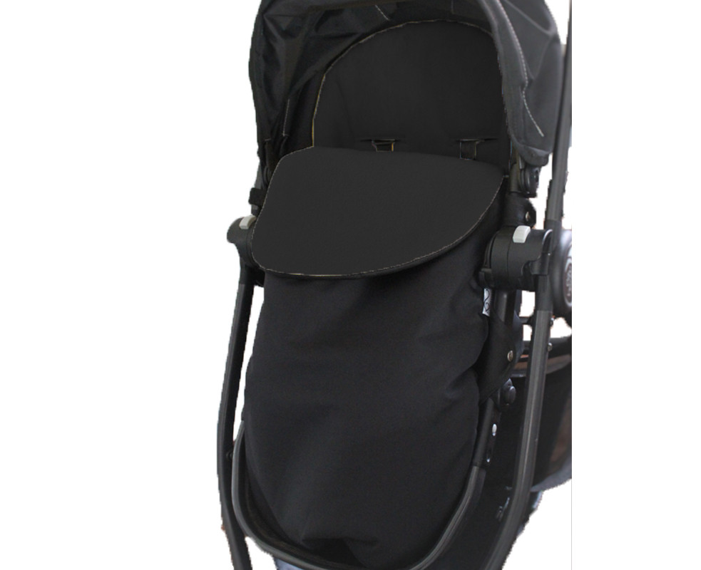 Classic Footmuff Pram Liner - Fleece Black