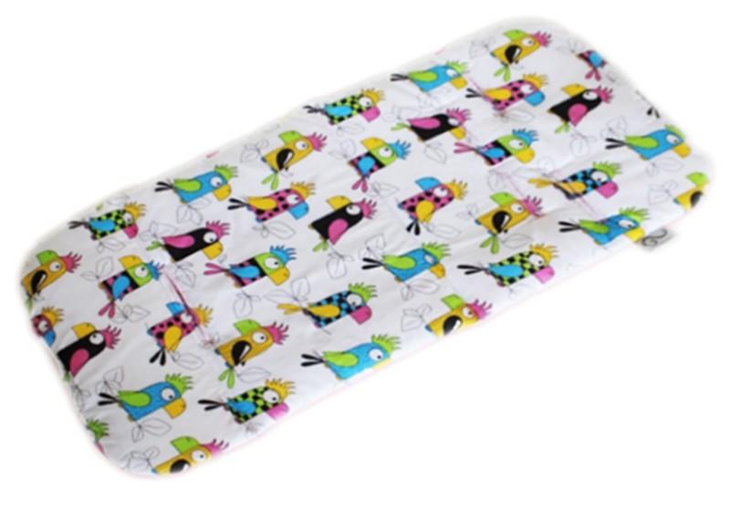Cotton Pram Liner - Parrots