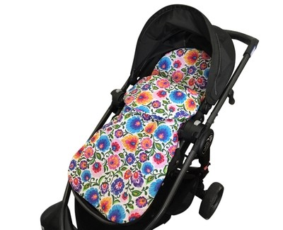 Cotton Footmuff Pram Liner - Folk Flowers