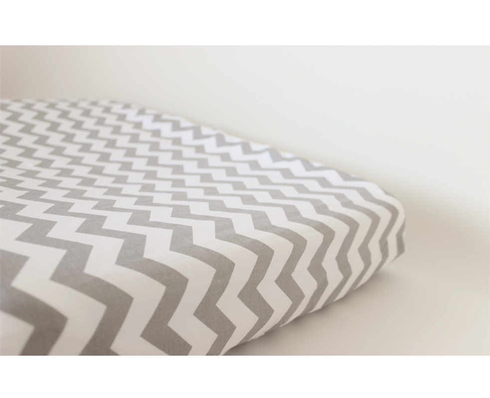 Change Mat Cover - Chevron Grey