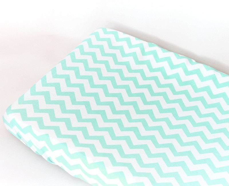 Change Mat Cover - Chevron Mint