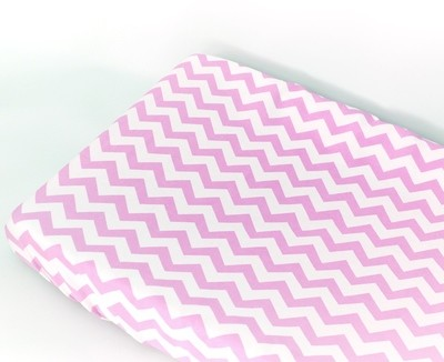 Change Mat Cover - Chevron Pink