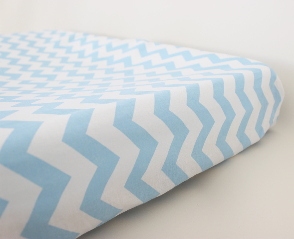 Change Mat Cover - Chevron Blue