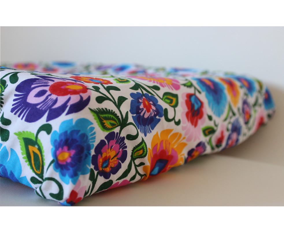 Change Mat Cover - Folk Flowers