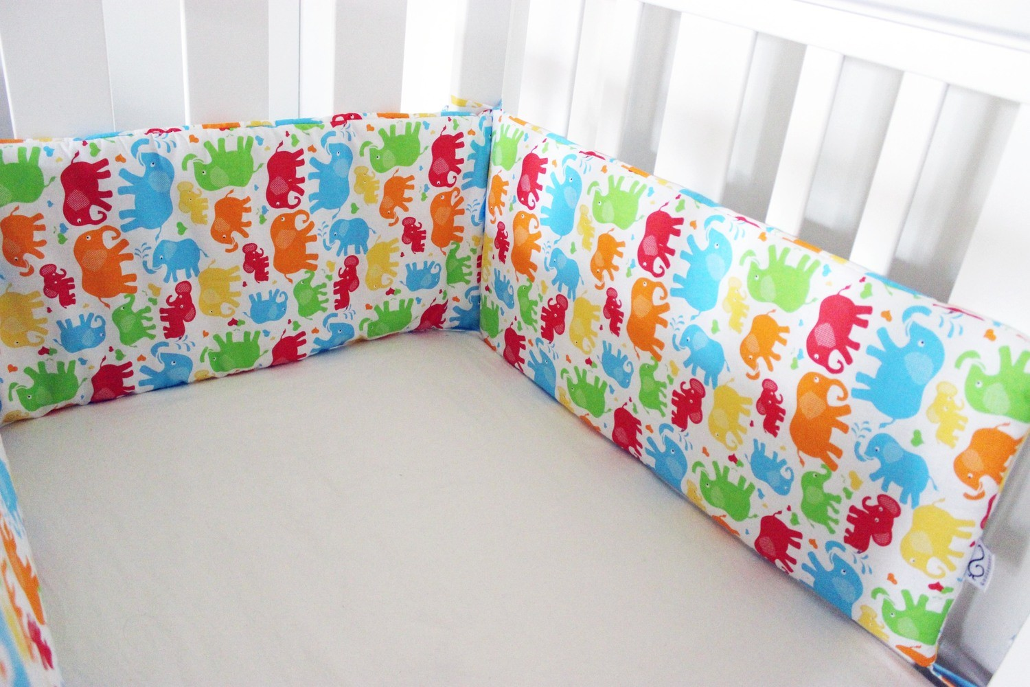 Cot Bumper - Elephants