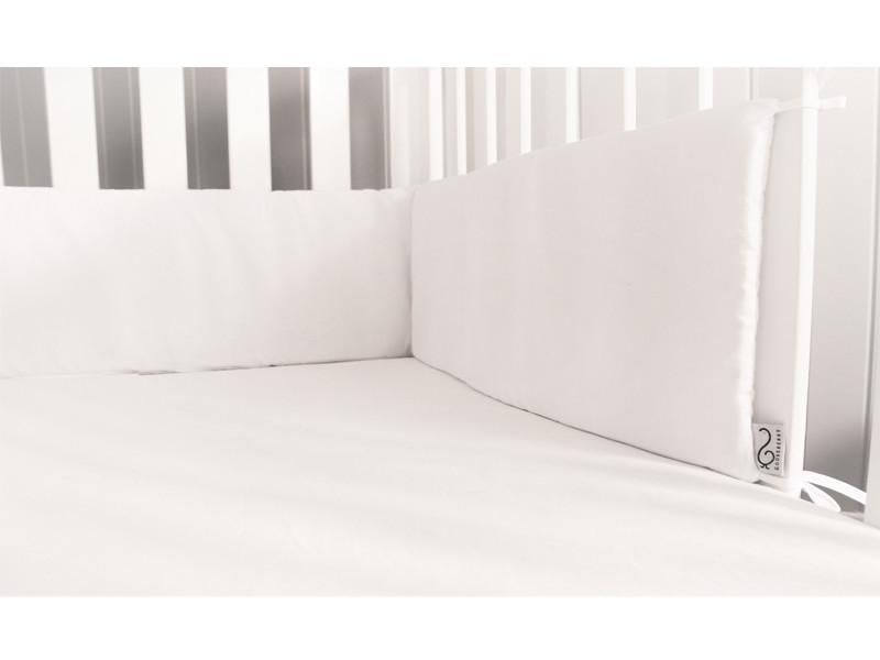 Cot Bumper - White