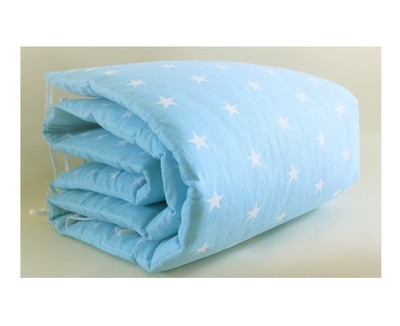 Cot Bumper - Blue Stars