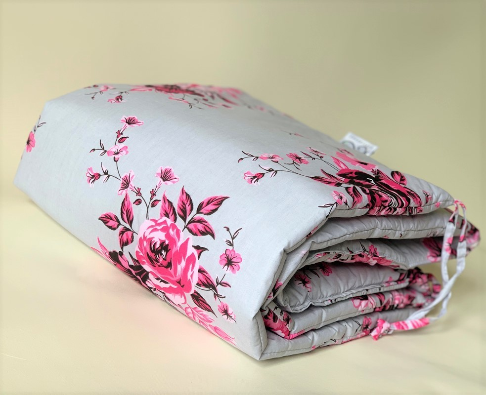 Cot Bumper - Roses