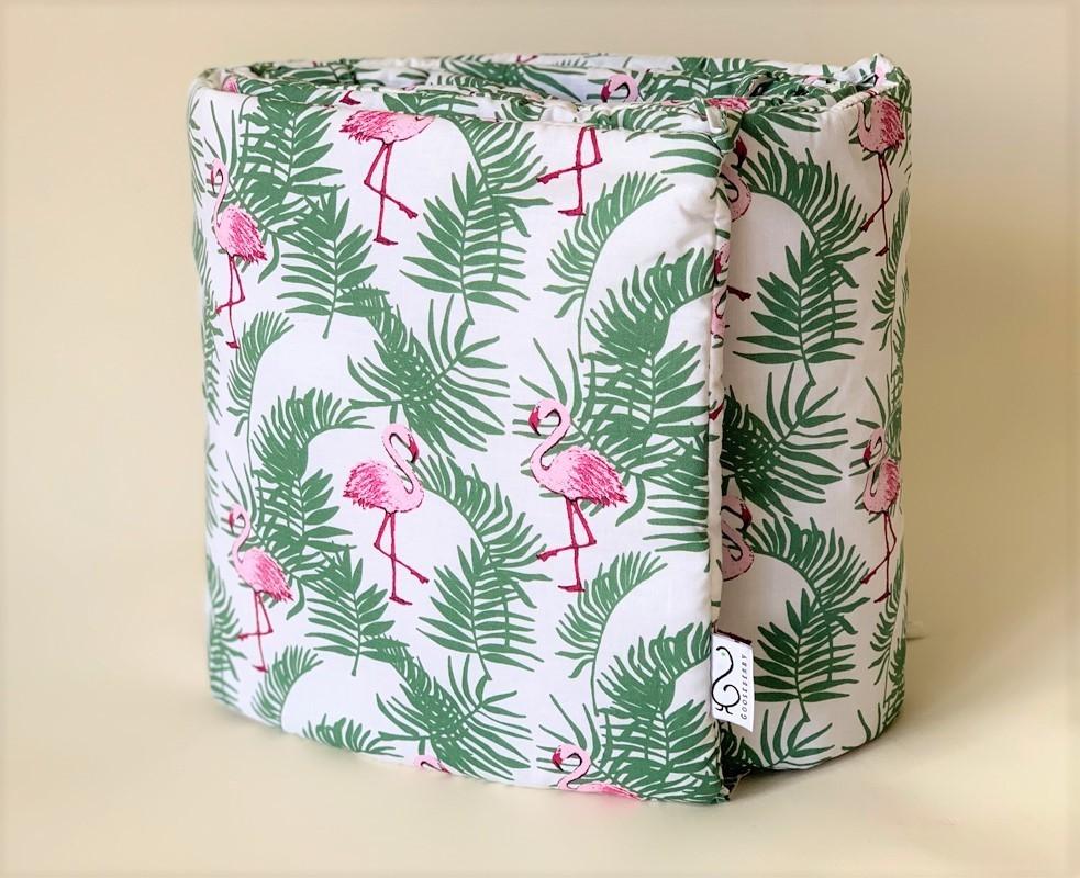 Cot Bumper - Flamingos