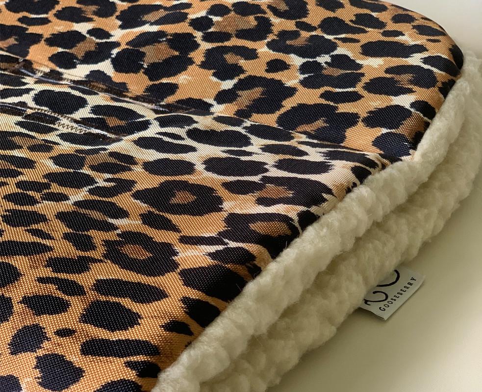 Wool Pram Liner Leopard