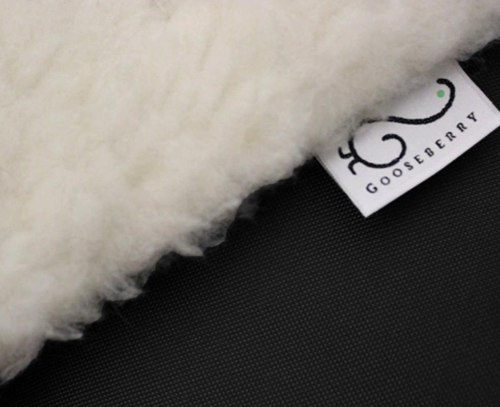 Wool Pram Liner Black