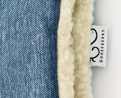 Wool Pram Liner Blue Jeans
