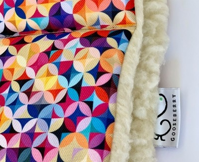 Wool Pram Liner Geometric Pattern
