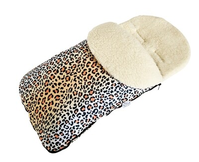 NEW Classic Natural Wool Footmuff Pram Liner - Safari