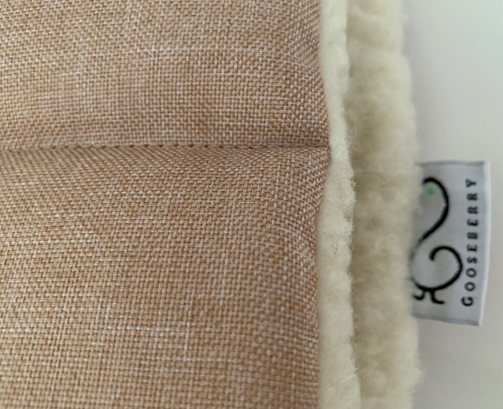 NEW Wool Pram Liner Beige