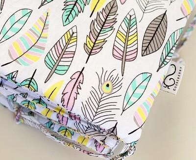 NEW Cot Bumper - Feathers