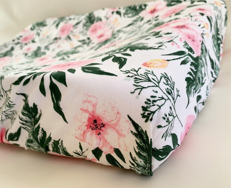 NEW Change Mat Cover - Pink Flowers