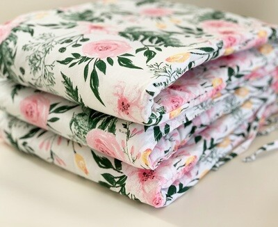 NEW Cot Bumper - Pink Flowers
